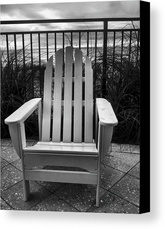 Beach Chair Canvas Print featuring the photograph Poolside And Gulfside by Julie Dant