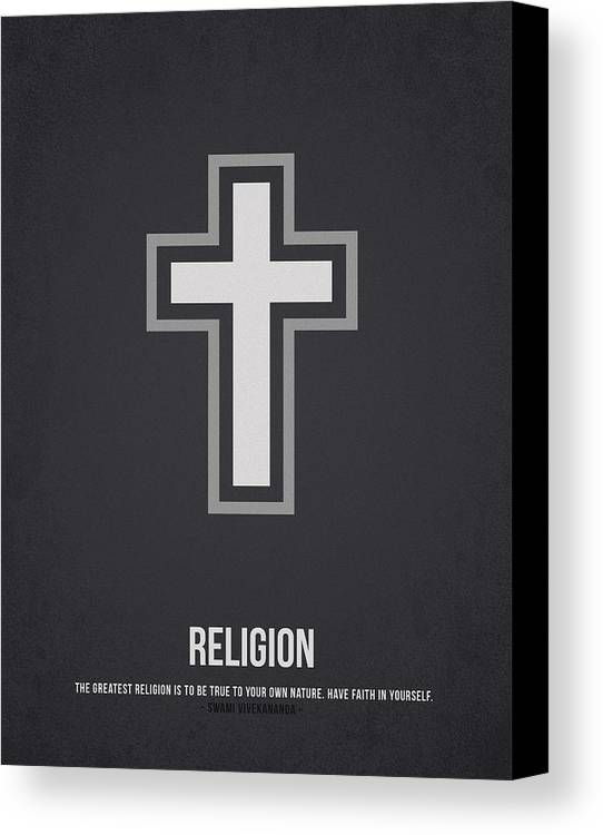 Rosary Canvas Print featuring the drawing Religion by Aged Pixel