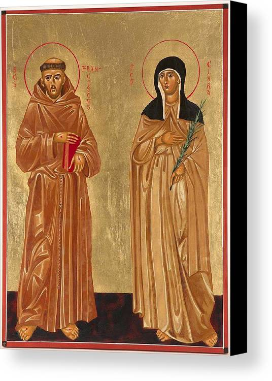 Icons Canvas Print featuring the painting St. Francis Of Assisi And St. Clare by Joseph Malham