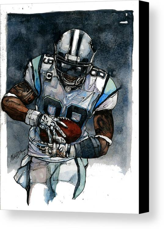 Steve Canvas Print featuring the painting Steve Smith by Michael Pattison