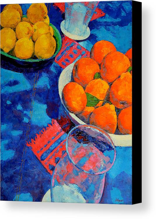 Still Life Canvas Print featuring the painting Still Life 2 by Iliyan Bozhanov