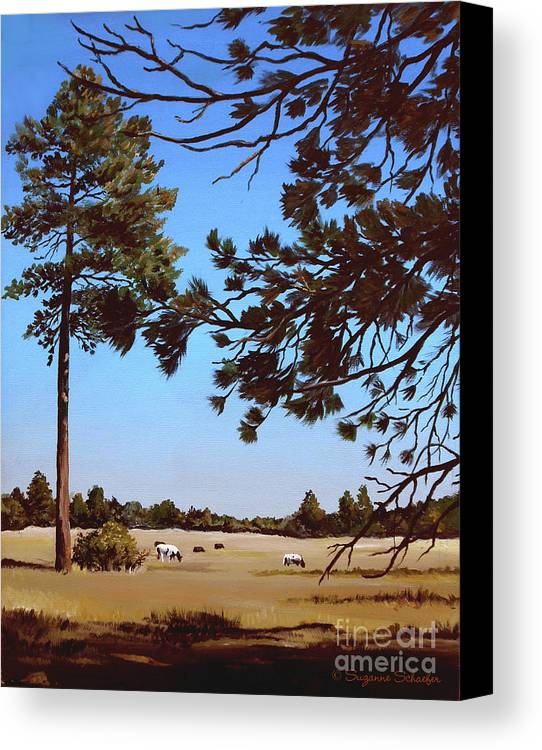 Scene Canvas Print featuring the painting Summer Serenity by Suzanne Schaefer