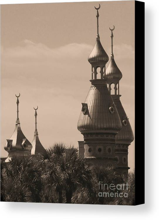 Tampa Canvas Print featuring the photograph Tampa Minarets by Carol Groenen