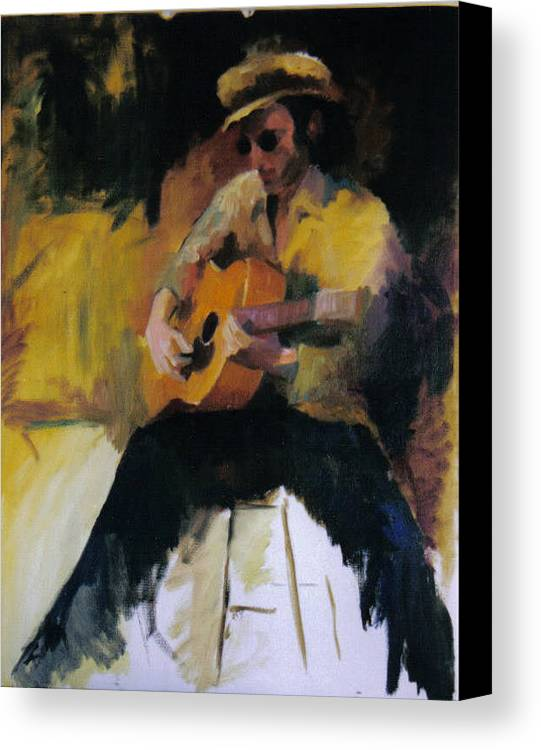 Man Canvas Print featuring the painting The Blues Man by John L Campbell