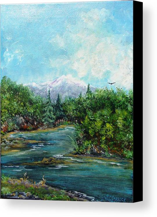 Landscape Canvas Print featuring the painting The Great Outdoors by Walter Carrick