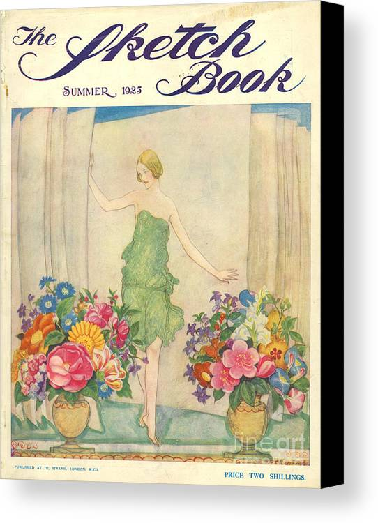1920�s Canvas Print featuring the drawing The Sketch Book 1925 1920s Uk Womens by The Advertising Archives