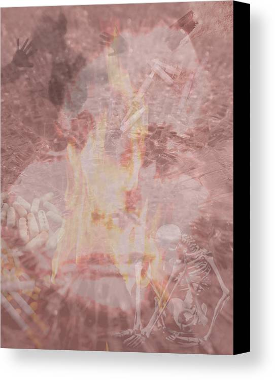 Drugs Canvas Print featuring the digital art The War On Drugs by Kathryn Blevins