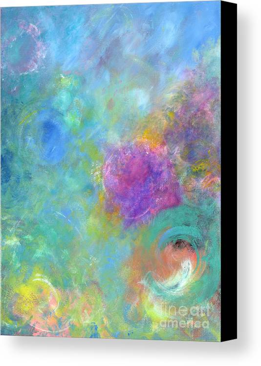 Acrylic Painting Canvas Print featuring the tapestry - textile Thoughts Of Heaven by Jason Stephen