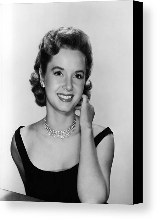 Necklace Canvas Print featuring the photograph Debbie Reynolds, 1956 by Everett