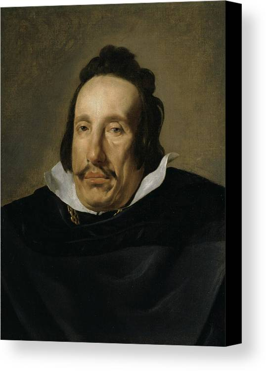 Man Canvas Print featuring the painting A Man by Diego Rodriguez de Silva y Velazquez