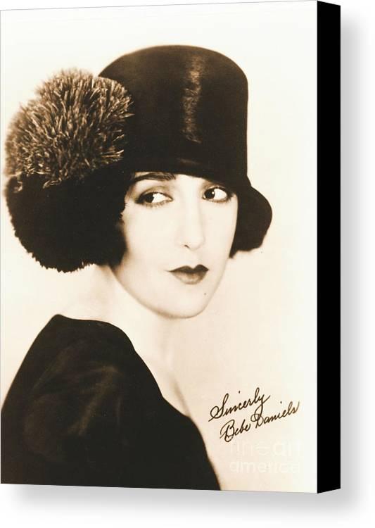 Bebe Daniels 1925 Canvas Print featuring the photograph Bebe Daniels 1925 by Padre Art