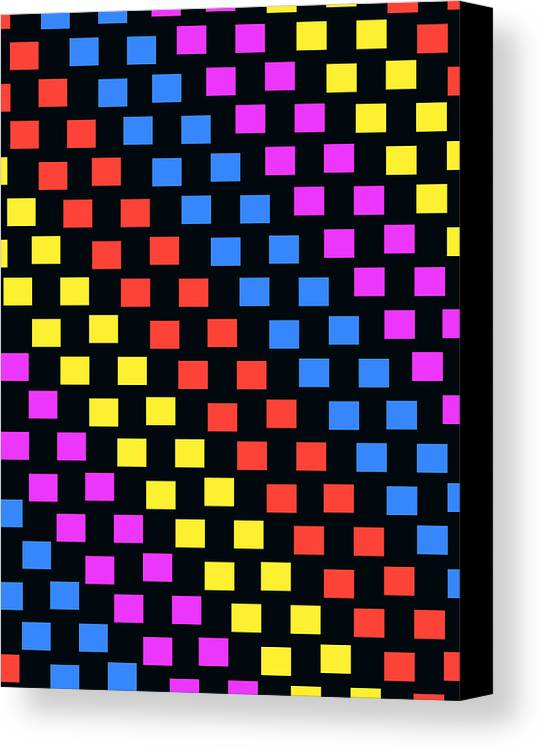 Louisa Canvas Print featuring the digital art Colorful Squares by Louisa Knight