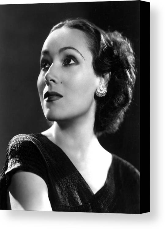1930s Portraits Canvas Print featuring the photograph Dolores Del Rio, Ca. 1935 by Everett