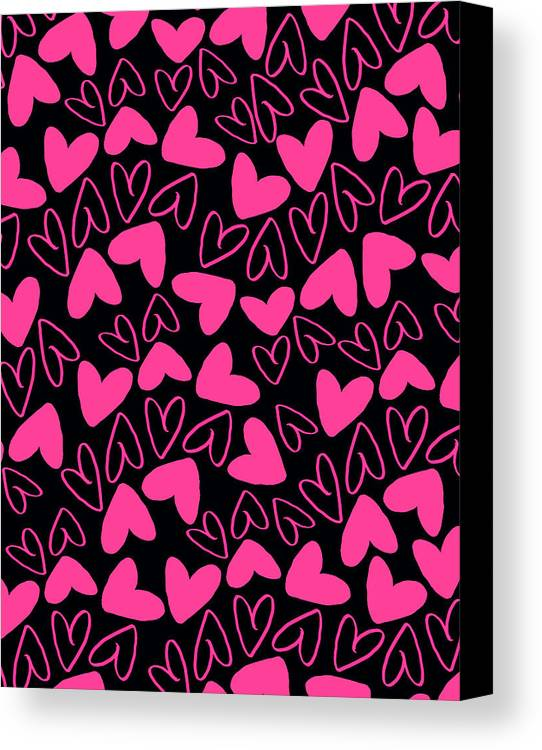 Heart Canvas Print featuring the digital art Hearts by Louisa Knight
