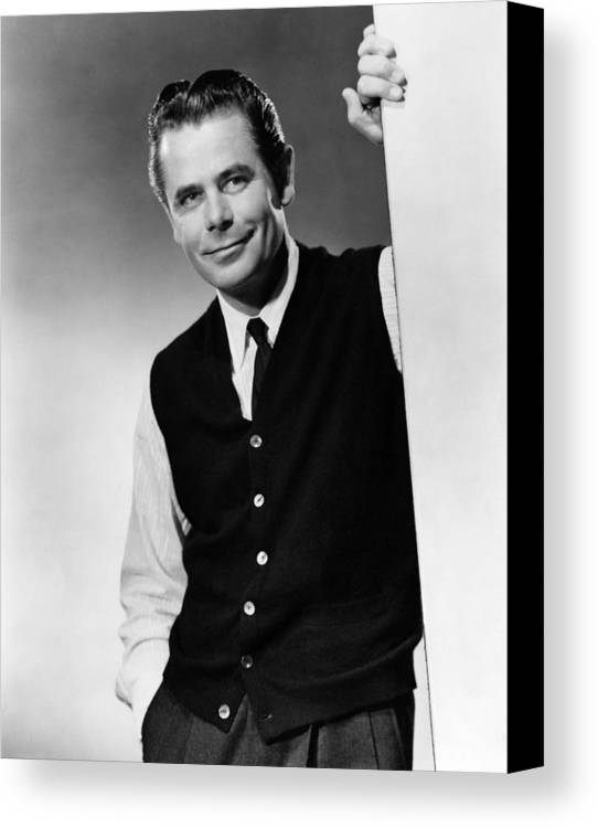 1950s Portraits Canvas Print featuring the photograph Interrupted Melody, Glenn Ford, 1955 by Everett