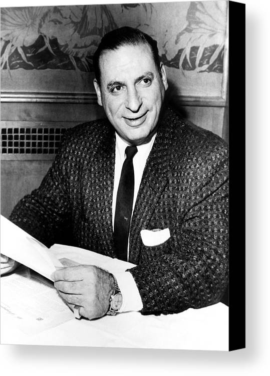 1950s Canvas Print featuring the photograph Irv Kupcinet, Circa 1950s by Everett