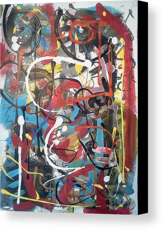 Canvas Print featuring the painting July 9 2012-3 by Gustavo Ramirez