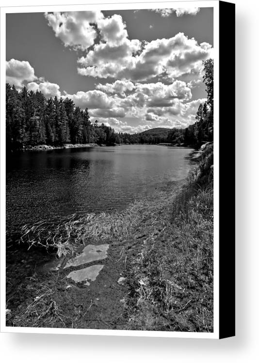 Nature Canvas Print featuring the pyrography Lower Madawaska River by Yves Pelletier