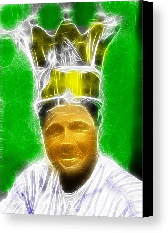 Babe Ruth Canvas Print featuring the painting Magical Babe Ruth by Paul Van Scott