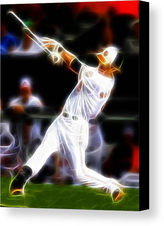 Baltimore Orioles Canvas Print featuring the painting Magical Oriole by Paul Van Scott