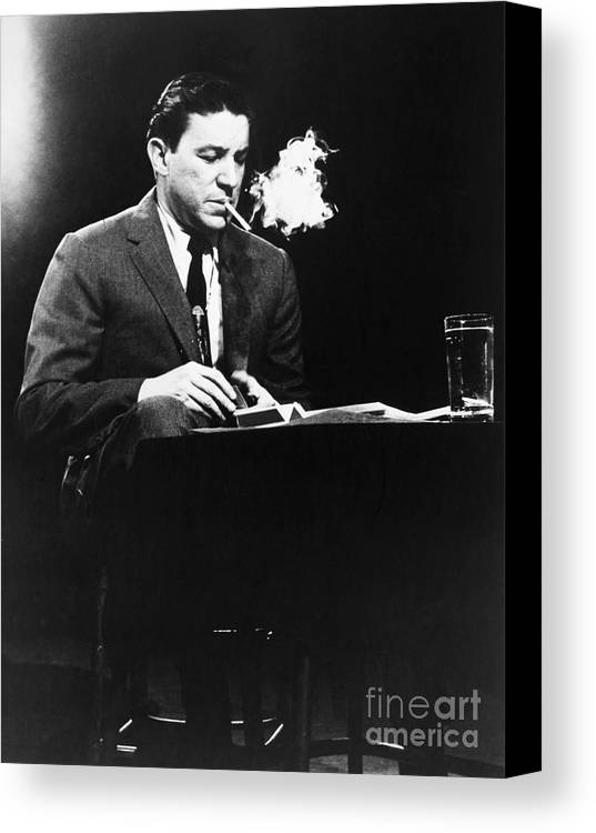 20th Century Canvas Print featuring the photograph Mike Wallace (1918-2012) by Granger