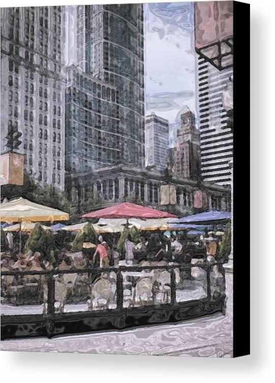 Chicago Canvas Print featuring the photograph Millennium Park 1 by Katriel Jean-Baptiste