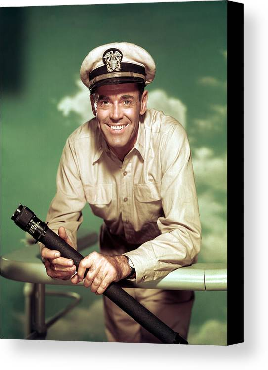 1950s Movies Canvas Print featuring the photograph Mister Roberts, Henry Fonda, 1955 by Everett