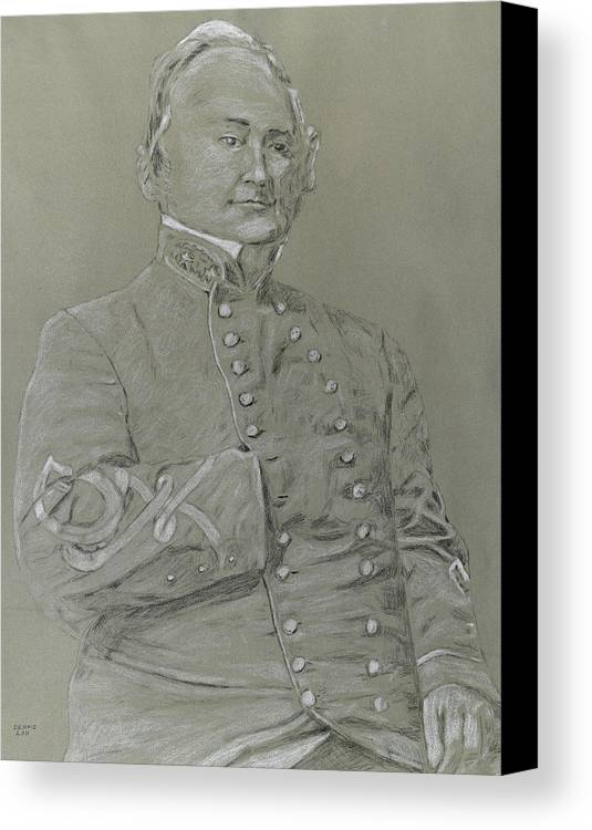 Military Art Canvas Print featuring the drawing Price by Dennis Larson