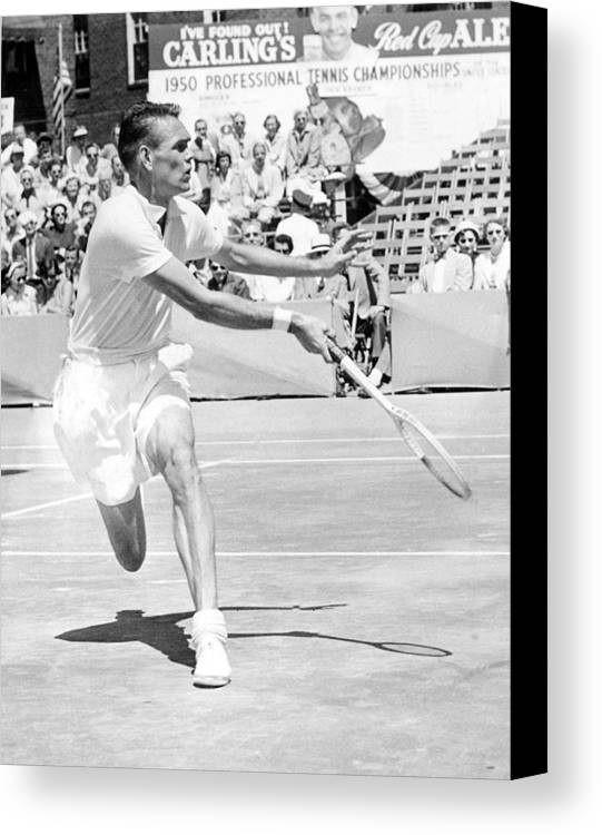 1950s Candids Canvas Print featuring the photograph Tennis Champion Jack Kramer, Playing by Everett