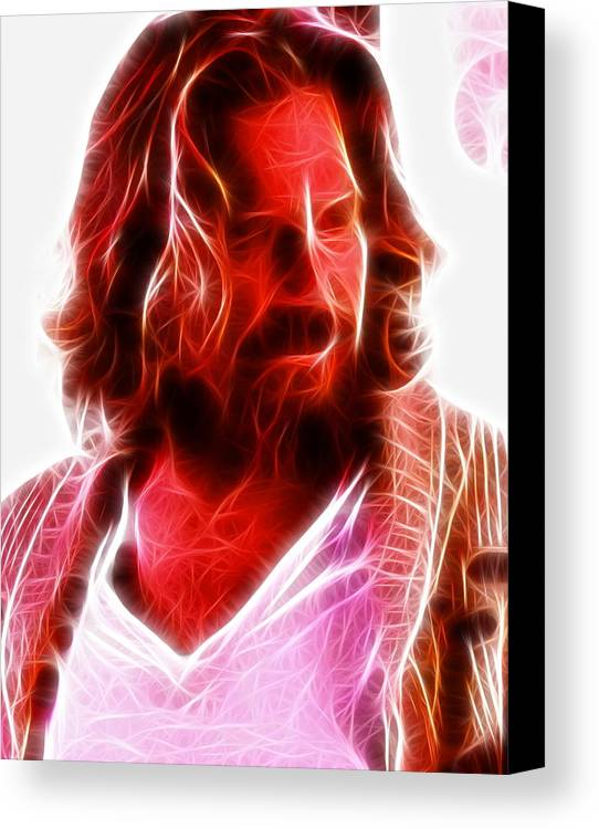 The Dude Canvas Print featuring the painting The Dude by Paul Van Scott