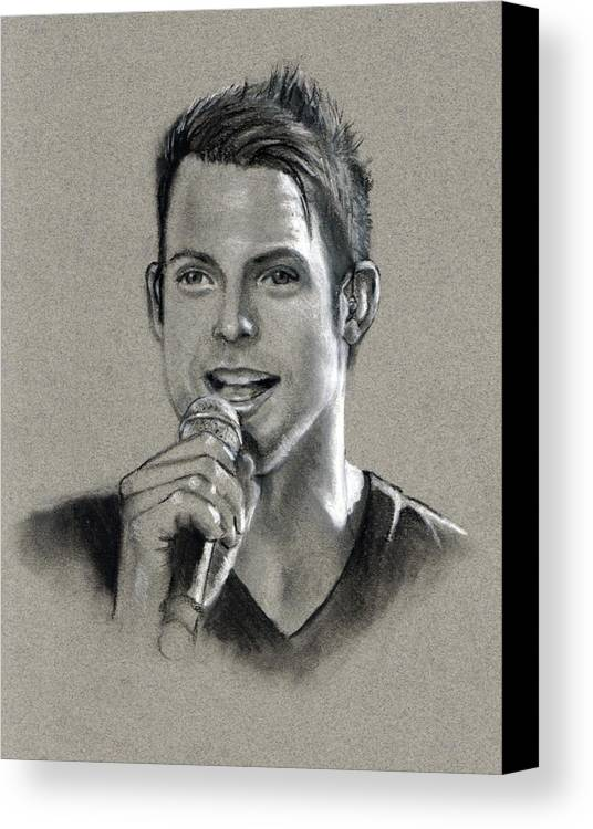 Singer Canvas Print featuring the drawing The Singer by Joyce Geleynse
