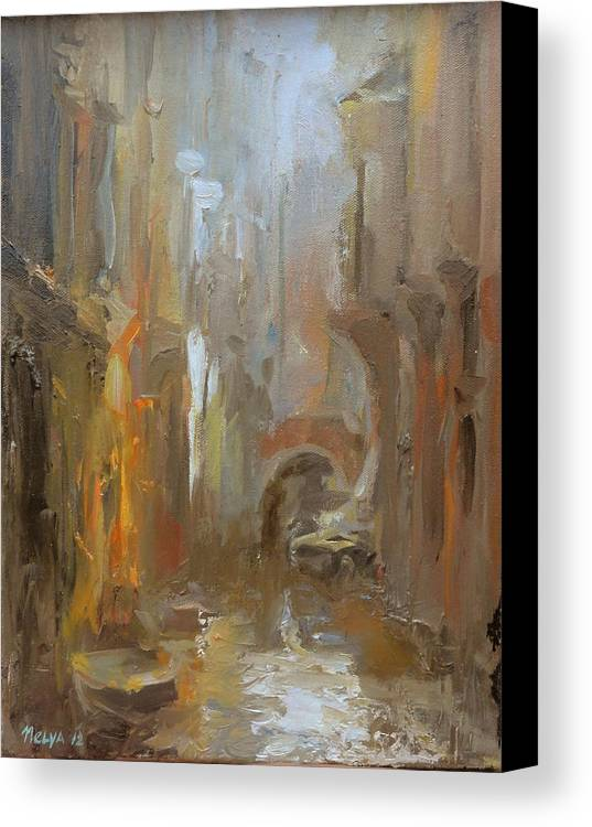 Art Canvas Print featuring the painting Venice by Nelya Shenklyarska