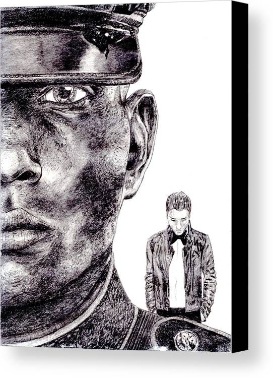 Marine Canvas Print featuring the drawing Who Fights Our Wars by Blake Grigorian