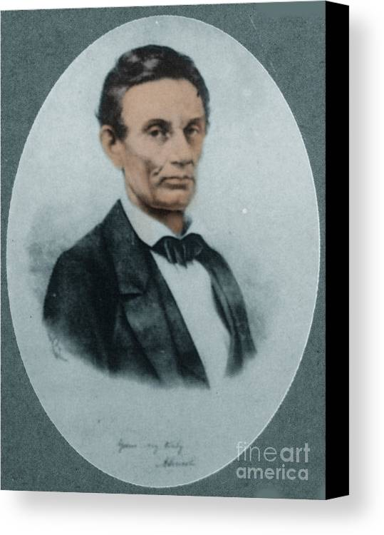 History Canvas Print featuring the photograph Abraham Lincoln, 16th American President by Science Source