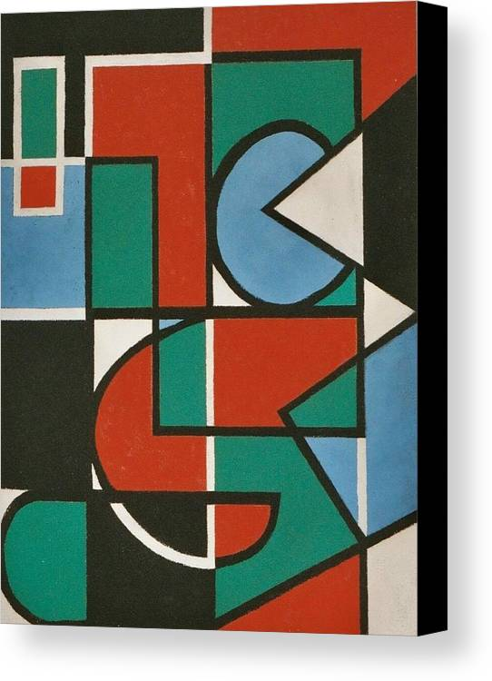 Abstract Canvas Print featuring the painting Concinnity Rouge by Nicholas Martori