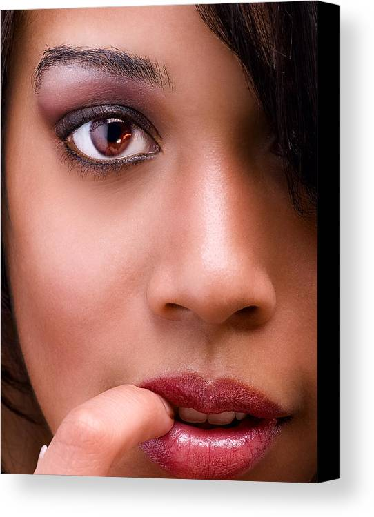Female Canvas Print featuring the photograph Eye Has It by Val Black Russian Tourchin