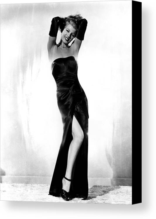 1940s Portraits Canvas Print featuring the photograph Gilda, Rita Hayworth, 1946 by Everett