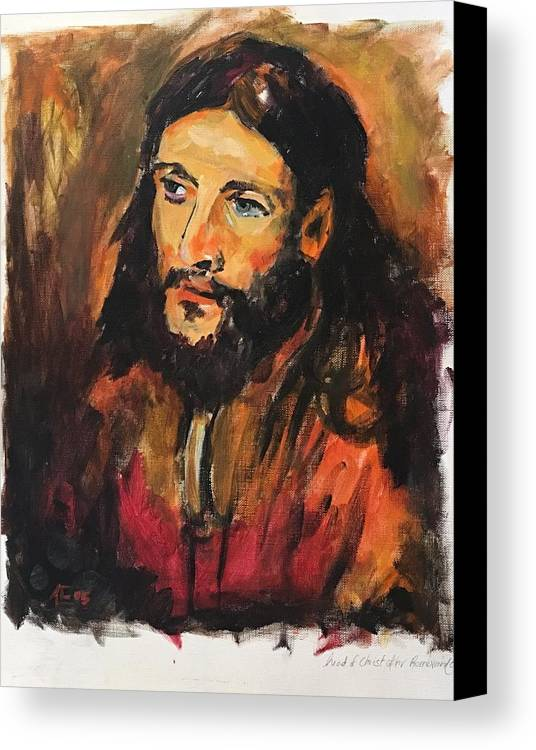 Canvas Print featuring the painting Jesus by Alejandro Lopez-Tasso