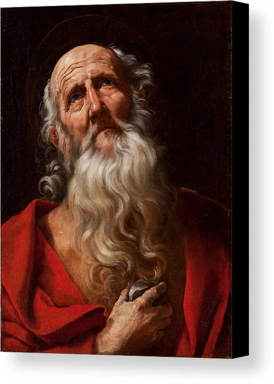 Guido Reni (bologna 1575 - 1642) Canvas Print featuring the painting Saint Jerome by MotionAge Designs