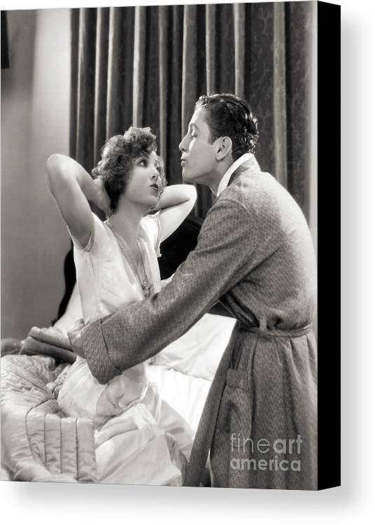 -couples- Canvas Print featuring the photograph Silent Film Still: Couples by Granger