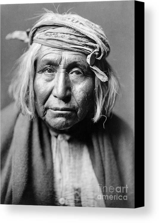 1906 Canvas Print featuring the photograph Apache Man, C1906 by Granger