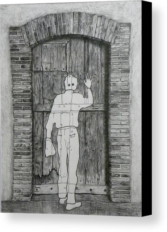�tant Donn�s Canvas Print featuring the drawing Being Taken by Richard Barone