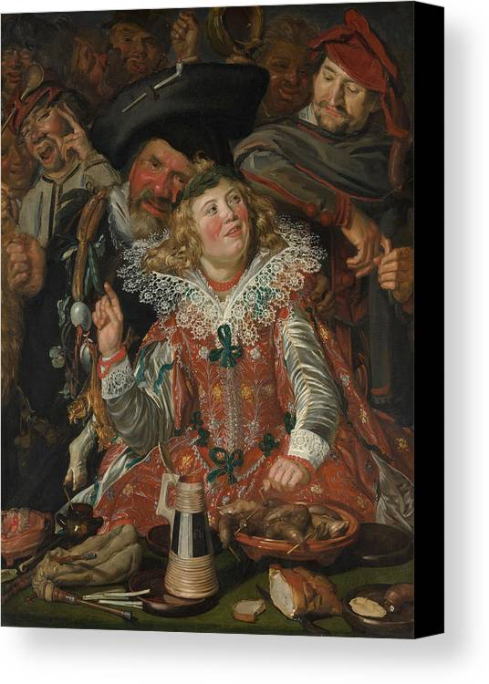 Baroque Canvas Print featuring the painting Merrymakers At Shrovetide by Frans Hals