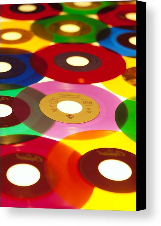 45 Canvas Print featuring the photograph 45 Rpm by Robert Ponzoni