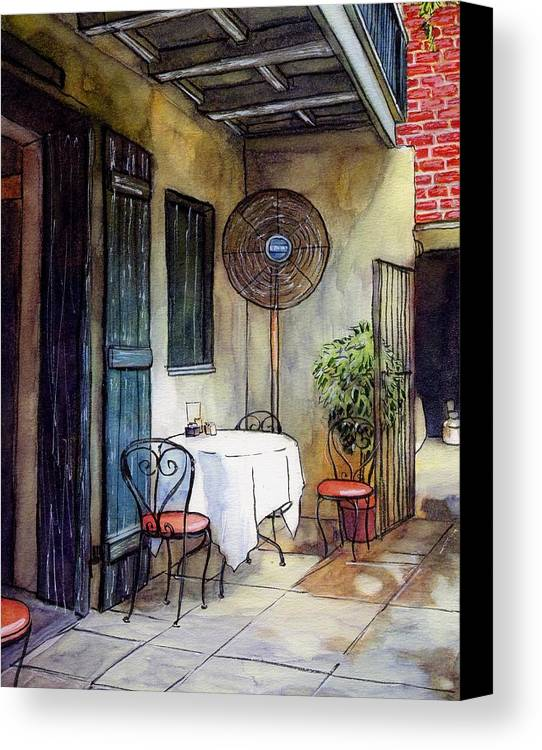Napoleon House Canvas Print featuring the painting 61 by John Boles