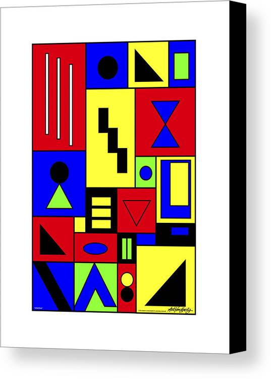 Canvas Print featuring the painting A Hurt Soul Passepartout by Asbjorn Lonvig