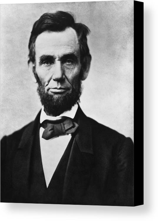 Abraham Lincoln Canvas Print featuring the painting Abraham Lincoln by War Is Hell Store