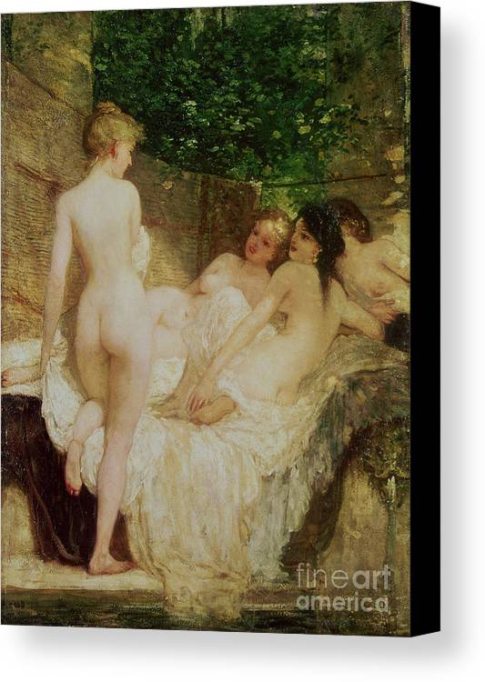 Bal54075 Canvas Print featuring the painting After The Bath by Karoly Lotz