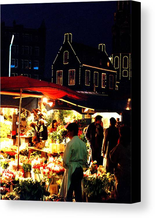 Flowers Canvas Print featuring the photograph Amsterdam Flower Market by Nancy Mueller