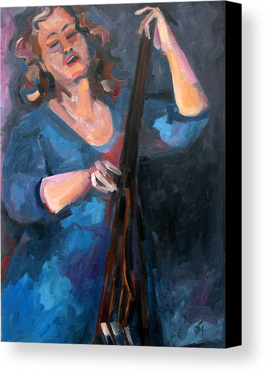 Blues Musician Canvas Print featuring the painting Andrafaye by Jackie Merritt